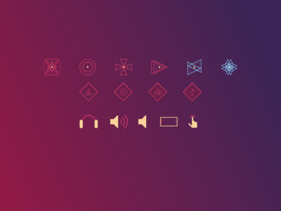 Conceptual Icons for SpaceLife Game