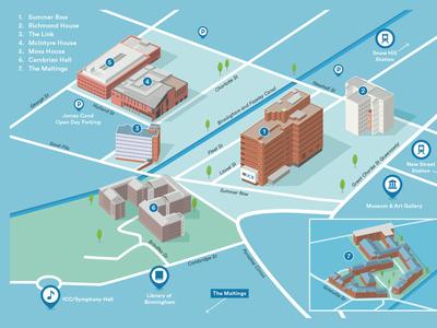 3D University campus map
