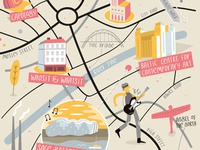 Illustrated map of Newcastle