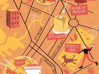 Park Slope, Brooklyn map autumn vector maps illustration map new york park slope brooklyn