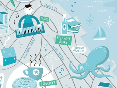 Falmouth illustrated map by Tom Woolley on Dribbble on map print, map of louisiana and mississippi, map of spanish speaking world, map clipart, map making, map art, map of the south sewanee university, map infographic, map background, map design, map great britain, map of california and mexico, map key, map paper, map cartoon, map of belfast and surrounding areas, map of victoria, map books, map app, map travel,