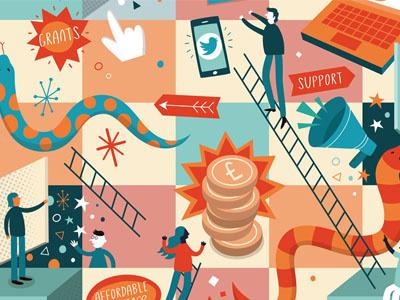 Bulletin Magazine magazine game vector board game illustration