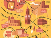 Illustrated map of Bradford