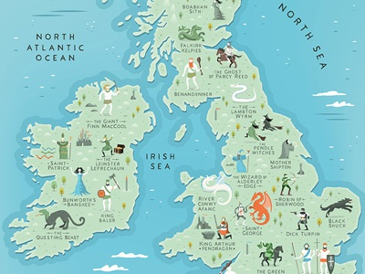 Myths & Legends of the British Isles map