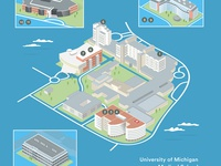 University of Michigan Medical School 3D Map