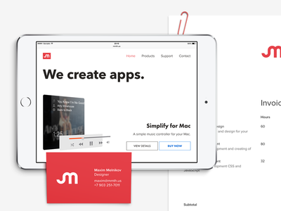 Semibold Mammoth's Identity identity website web clear business card ipad mini