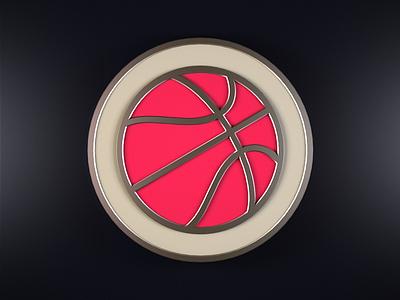 Dribbble Badge badge icon cinema 4d apple watch dribbble activity 3d