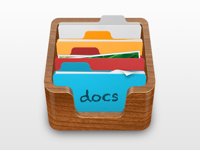 Docs icon wip photoshop wooden folders