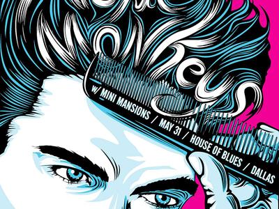 Arctic Monkeys - HOB noleofantastico poster illustration greaser dallas house of blues arctic monkeys