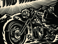 Death on Two Wheels Record Design