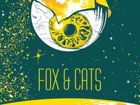Fox & Cats Poster