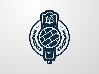 The Brickyard - monochrome tavern pub bar branding logo