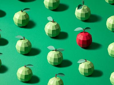 NYC TRIP stilllife setdesign set paperengenering tactile design noelia lozano papercut papercraft apple