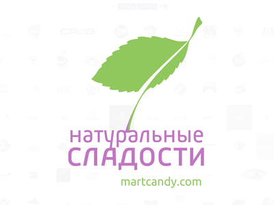 Natural Sweets brand vector logo branding