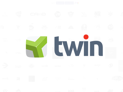 Twin brand sys vector logo branding