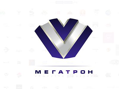 Megatron style vector logo branding