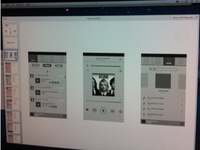 Music Player Wireframe