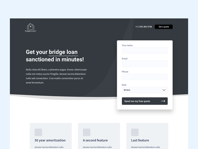 FundPoint landing page WIP ui ux design wireframes landing page website branding landing design