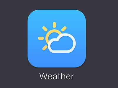 iOS 7 Weather design icon iphone ios 7 ios7 redesign mobile app flat