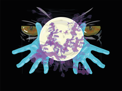 Moon Eyes illustration vector design