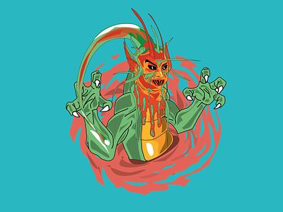 Tripin dragon graphic design argentina draw illustration design