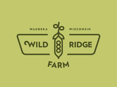 Wild Ridge Farm logo farm pea wisconsin thick lines green