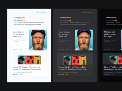 Email templates colour palettes email designer email template email minimal dark theme ui dark theme email templates emails email design