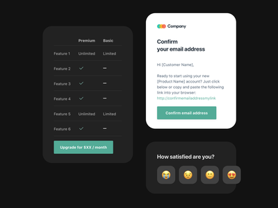 New Onboarding email templates - Free sketch file email design system design system email newsletter saas email template sketch email design freebies freebie free onboarding onboarding ui onboarding emails