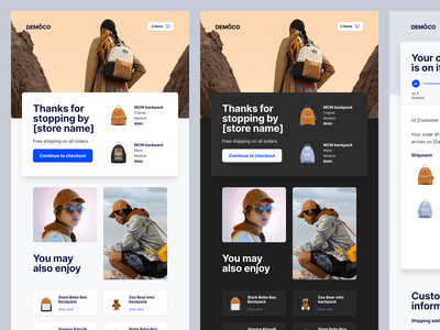 🚀 New email templates coming soon ecommerce eshop abandoned cart cart figma design system email design email template