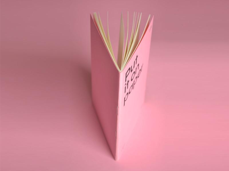 Pink notebook notebook