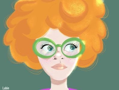 Lubin Portrait illustration portfolio procreate color portrait illustrator