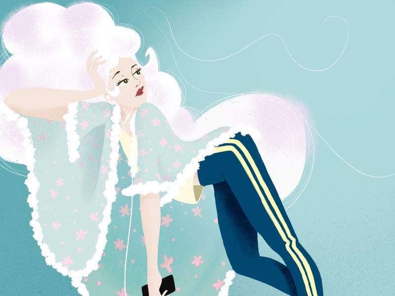 Marquise portfolio digital pop color procreate illustration illustrator