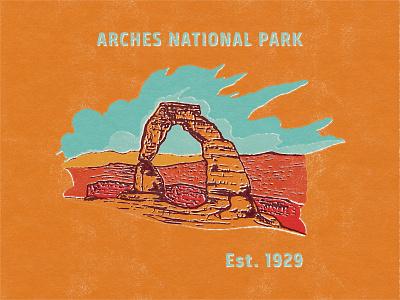 Delicate Arch retro illustration illustration retro national park arches national park delicate arch delicatearch
