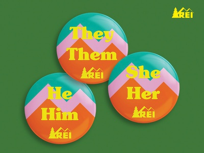 REI Employee Pins pins denver fortcollins outdoors colorado mountains equality gender
