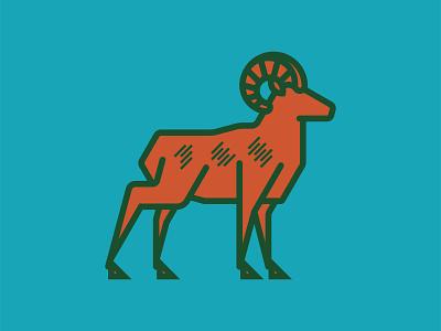 Ram fortcollins icon illustration animal university colorado colorado state university csu ram