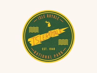 Isle Royale Badge fort collins typography badge michigan national park service nps national parks isle royale