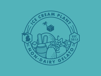 Ice Cream Plant Tee michigan bourbon vanilla chocolate coconut vegan avocado icons logo branding marketing ice cream