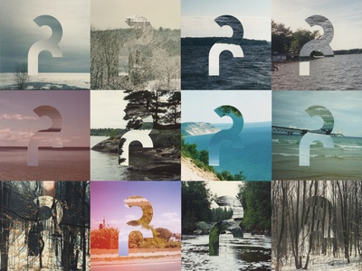 Logo Treatment beach collage vintage trees woods lake michigan michigan retro icon logo