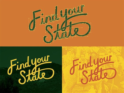 CSU Find Your State Hand Lettering