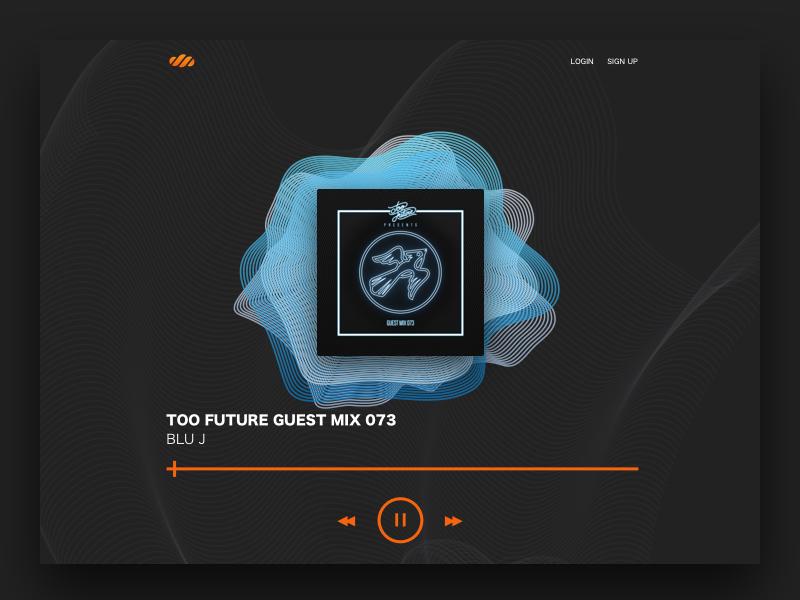 Dark & Light UI music organic geometric illustration webdesign website musicplayer