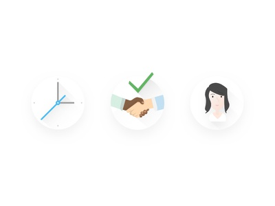 Value Prop Icons material support vector clock teamwork icons icon minimal design illustration