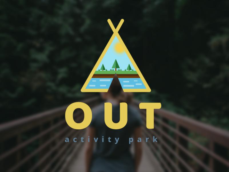 OUT Activity Park web design website logo ux ui design