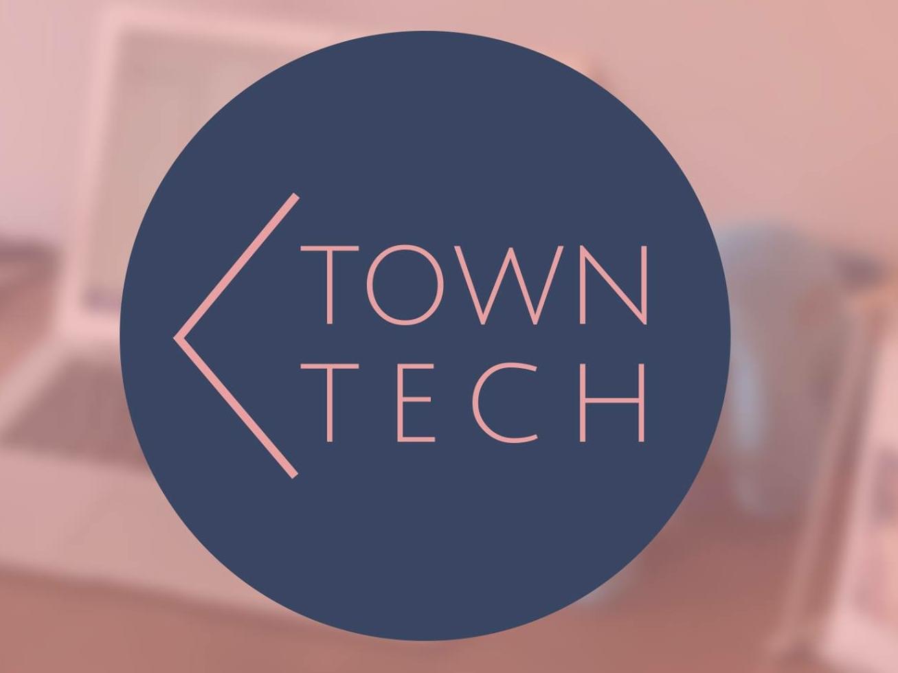 TownTech branding logo design