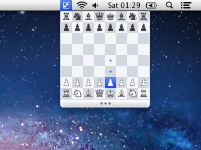 Lil Chess menu app mac os chess