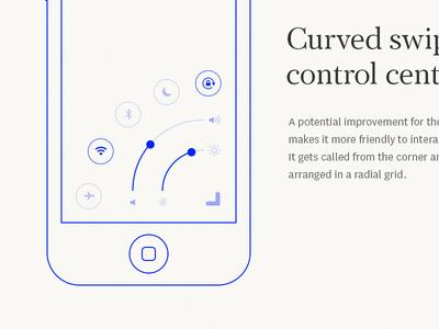 Curved swipe #2 ux