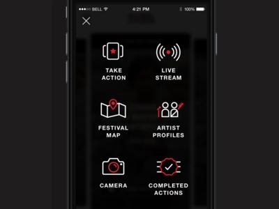 Global citizen menu menu icons
