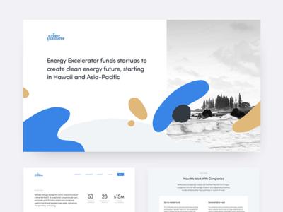 Energy Excellerator typography organic layout ui web