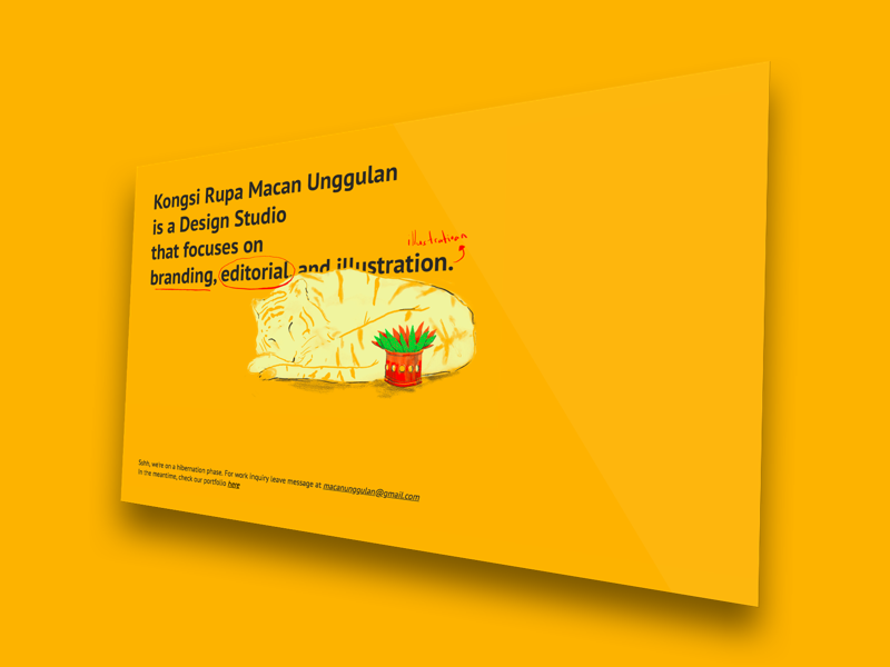 Kongsi Rupa Macan Unggulan - Underconstruction Page by Reza