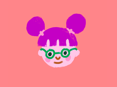 lil kid childrens illustration pink face little girl girl glasses happy childrens book kids illustration child kid
