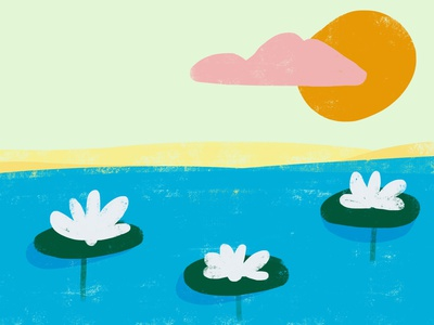 i like lake plants fauna florals camping outdoors sun clouds sky beach lilies lily lillipads lake